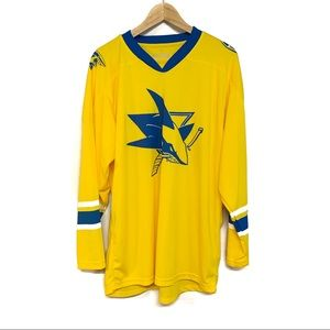 San Jose Sharks golden state warriors jersey M